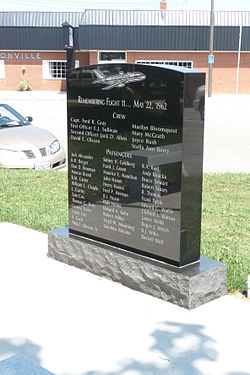 Continental Airlines Flight 11 memorial Unionville, Missouri.jpg