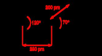 Copper(II) nitrate - Image: Copper(II) nitrate monomer 2D dimensions