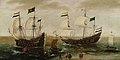Cornelis Verbeeck - Zeegezicht met schepen voor de kust.jpg