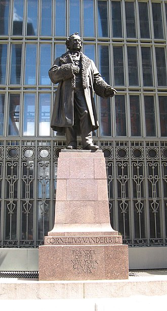 Cornelius Vanderbilt - Statue at the modern Grand Central Terminal