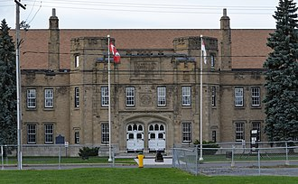 Stormont, Dundas and Glengarry Highlanders - Image: Cornwall Armoury