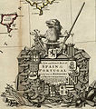 Corona heráldica del mapa de 1711 de Herman Moll de España y Portugal.jpg
