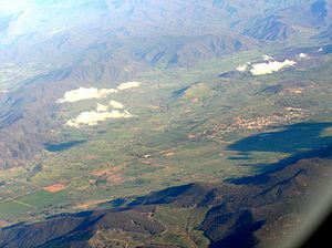 Aerial view of Corryong Victoria Australia fro...