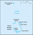 Cosos (Keeling) Islands (Australia) map.png
