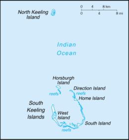 Isole Cocos (Keeling) - Mappa
