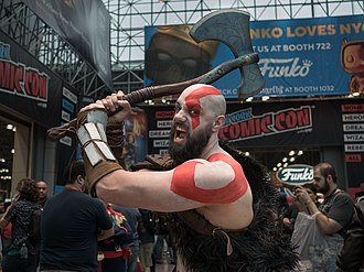 New York Comic Con - Kratos cosplayer at the 2018 event