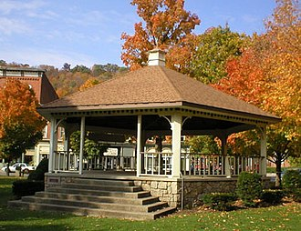 Coudersport, Pennsylvania - Gazebo in Town Square behind Potter County Courthouse in Coudersport, PA