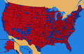 County results for the 2000 presidential election.png