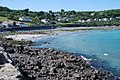 Coverack beach at high tide - geograph.org.uk - 1060729.jpg