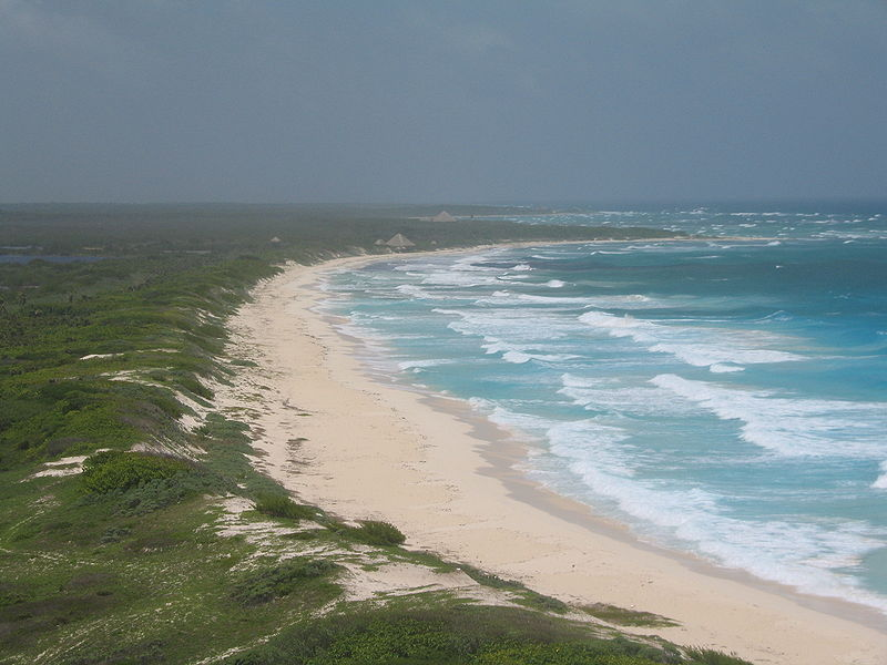 File:Cozumel beach from lighthouse.jpg