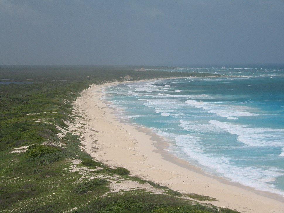 Cozumel beach from lighthouse