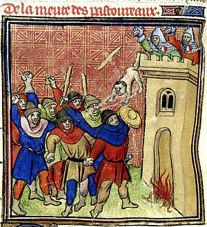 Shepherds' Crusade (1320) - Pastoureaux killing 500 Jews at Verdun-sur-Garonne in 1320