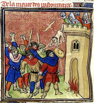 Shepherds' Crusade (1320) - Pastoureaux killing 500 Jews at Verdun-sur-Garonne in 1320