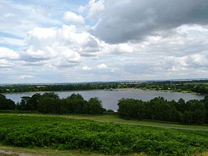 Cropston Reservoir - Cropston Reservoir viewed from Bradgate Park