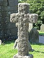Cross covered with moss in St Levan churchyard - geograph.org.uk - 1389311.jpg