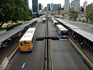 South East Busway bus-only road in Queensland, Australia