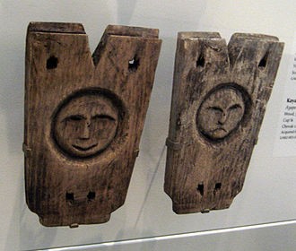 Stanchion - Cup'ik kayak stanchions, collection of the University of Alaska Museum of the North