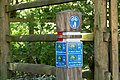Cycle route signs in St Peter's valley.jpg