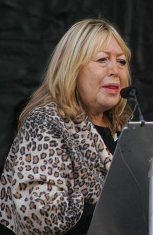 Cynthia Lennon at the unveiling of the John Lennon Peace Monument in Liverpool in October 2010 Cynthia Lennon 2010.jpg