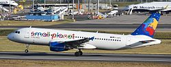 Airbus A320-200 der Small Planet Airlines Deutschland