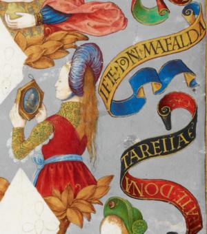 Mafalda of Portugal (daughter of Afonso Henriques) - Mafalda in Genealogy of the Kings of Portugal (António de Holanda, 1530–1534)