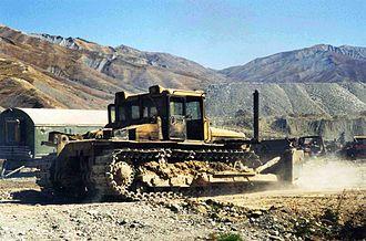 Chelyabinsk Tractor Plant - Image: DET bulldozer in Tajikistan