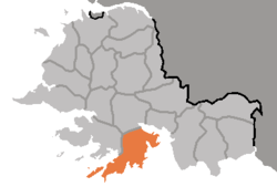 Location of Kangryŏng County