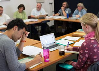 Dominican School of Philosophy and Theology - Lay and religious students in a DSPT classroom.