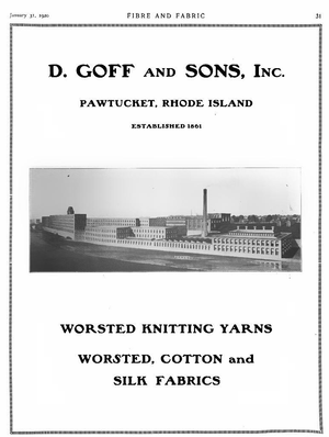 Darius Goff - Image: D Goff and Sons advertisement 1920
