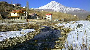 Mount Damavand - Damavand from Manzarie Village