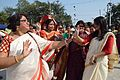Dancing Devotees - Durga Idol Immersion Ceremony - Baja Kadamtala Ghat - Kolkata 2012-10-24 1287.JPG