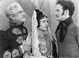 Charles Collins (actor) - Frank Morgan, Steffi Duna and Collins in Dancing Pirate (1936)