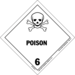 label for dangerous goods, class 6.1a