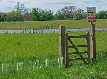 English: Danger Quicksand This gate leads to a...
