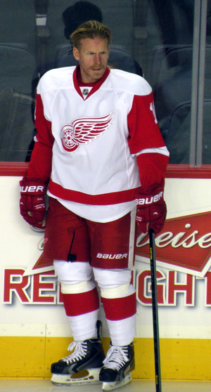 Daniel Alfredsson - Alfredsson during his year with the Detroit Red Wings