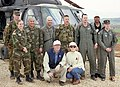 Daniel Janes, Kevin Brady, and Kay Bailey Hutchison meet with Texans serving in Kosovo.jpg