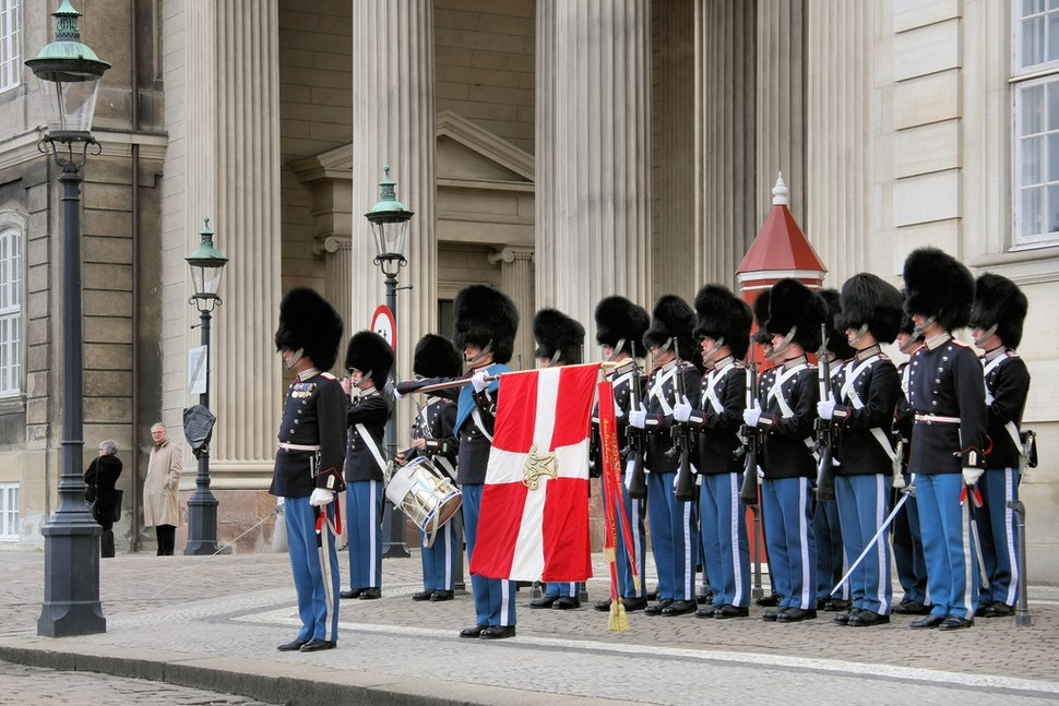 Danish Royal Guard Present Arms
