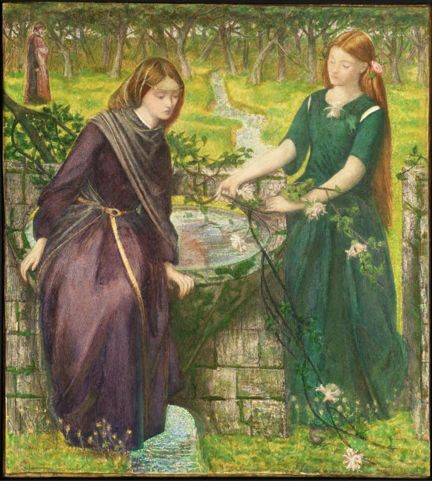Dante Gabriel Rossetti - Dante's Vision of Rachel and Leah