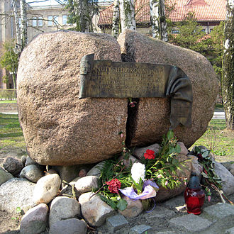Sopot - Memorial Stone for Danuta Siedzikówna in Sopot