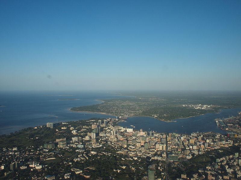 File:Dar es Salaam aerial.jpg