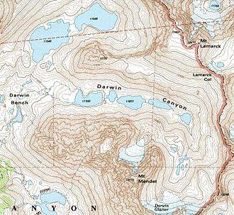 Paternoster lake - Paternoster lakes in Darwin Canyon, in California's John Muir Wilderness.