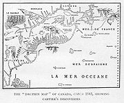 The Dauphin Map of Canada, circa 1543, showing Cartier's discoveries