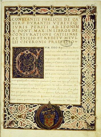 «О заговоре Катилины» (издание начала XVI века)