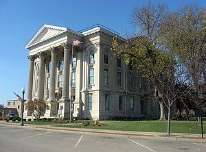 Dearborn County, Indiana - Image: Dearborn County Courthouse from the east