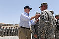 Defense.gov News Photo 110606-D-XH843-009 - Secretary of Defense Robert M. Gates presents 17 medals to the soldiers of Task Force Currahee before thanking them for their service and bidding.jpg