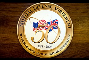 1958 US–UK Mutual Defence Agreement - Logo for celebrations commemorating the 50th anniversary of the treaty in 2008