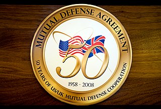 1958 US–UK Mutual Defence Agreement nuclear weapons security pact