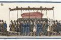 Del av bonad med Karl XIV Johans begravningståg, bårprocessionen, 1844 - Livrustkammaren - 108205.tif