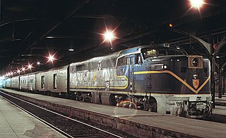 Delaware and Hudson Railway - Delaware and Hudson's Montreal Limited at Windsor Station, Montreal, Que. on August 27, 1970