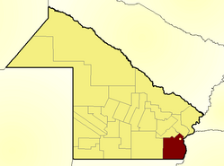 Location of San Fernando Department in Chaco Province